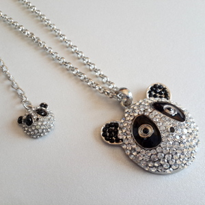 Bling Panda Necklace with mini Panda 53cm with Ext