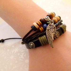 Leather Bracelet Style 5 - Angel Wing