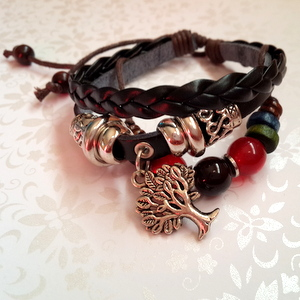 Leather Bracelet Style 6 - Tree of Life