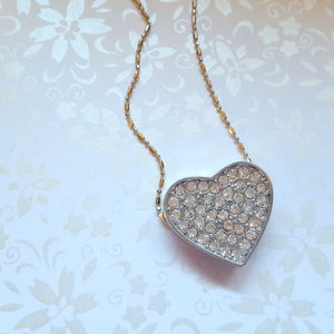 Diamante Heart Flip Necklace