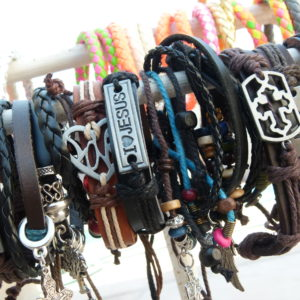 Genuine and Mock Leather Bracelets