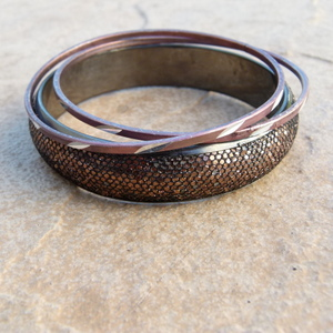 3Pc Bangle Set with Glitter