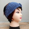 Dark Blue Crochet Headband or Neckwarmer (Handmade by Lila) LIL155 R65 (10)
