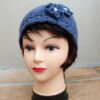 Dark Blue Crochet Headband or Neckwarmer