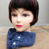 Dark Blue Crochet Headband or Neckwarmer (Handmade by Lila) LIL155 R65 (6)