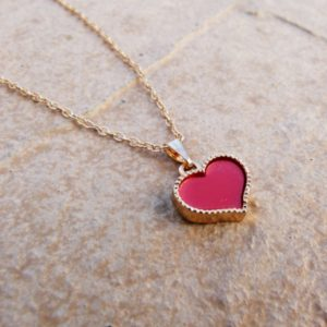 Girls Necklace With Red Heart