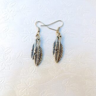 Leaf Dangle Earrings www.lillarosegifts.com