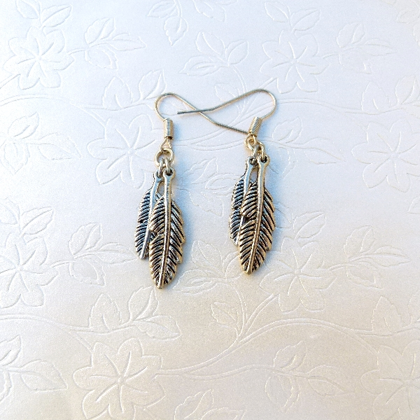 Leaf Dangle Earrings www.lillarosegifts.com