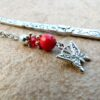 Silver Bookmark with Butterfly Charm & Red Bead www.lillarosegifts.com
