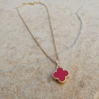 Girls Necklace With Red Clover