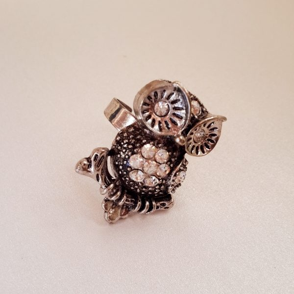 Ladies Adjustable Owl Ring Style 2