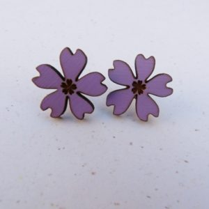 Lilac Flower Earrings 2cm