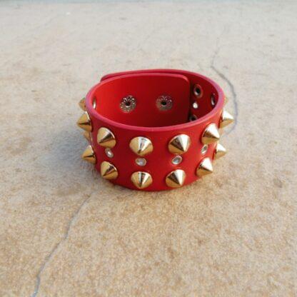Red Punk Stud Bracelet