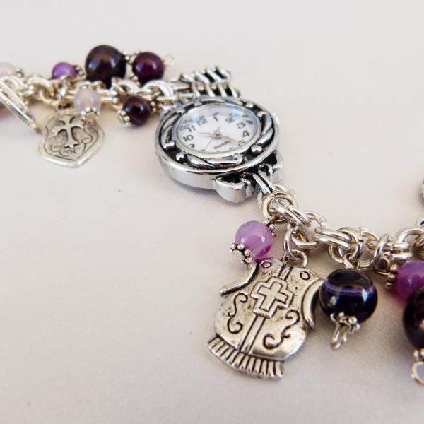 Chunky Armour of God Watch with Purple 2