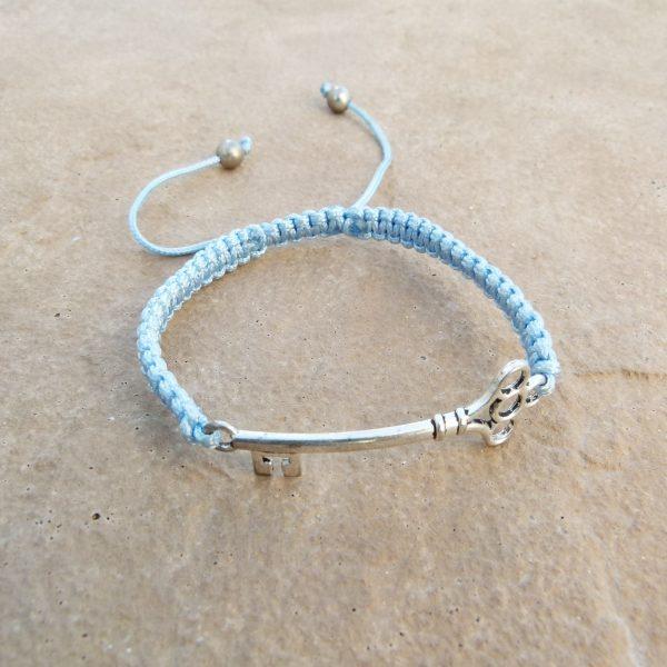 Blue Woven Key Bracelet