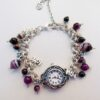 Chunky Chainmaille Watch Hope Love Joy with Purple