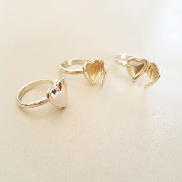 Heart Locket Ring Adjustable