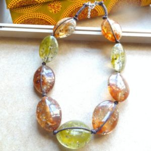 Bon Bon Olive & Brown Necklace