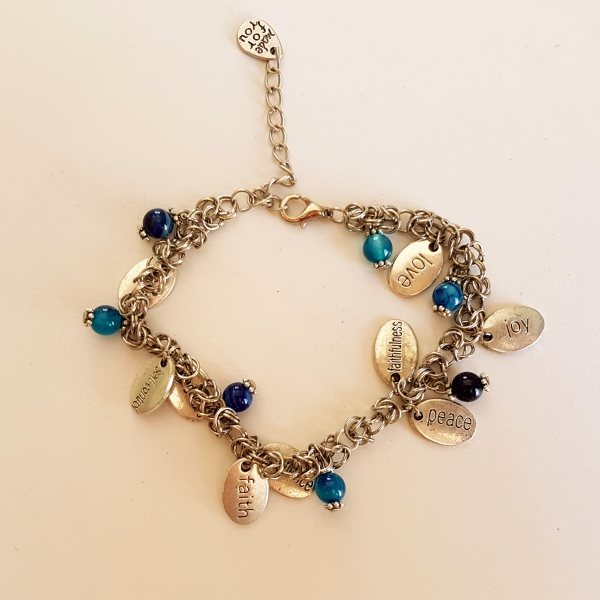 Fruits of The Spirit Bracelet with Blue