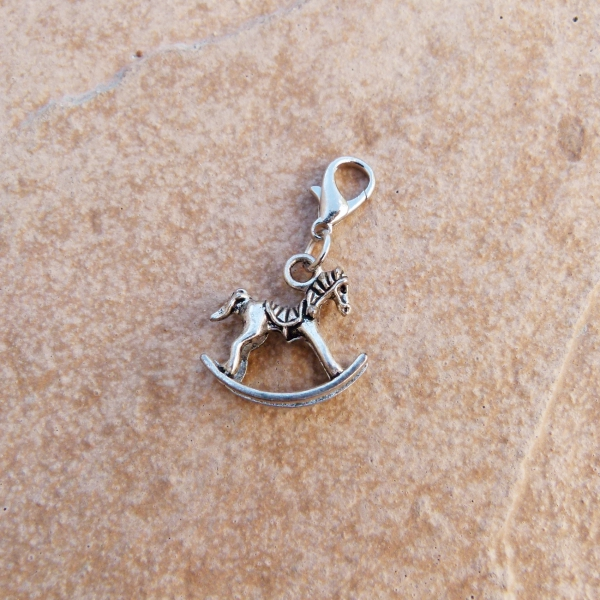 Rocking Horse Clip on Charm
