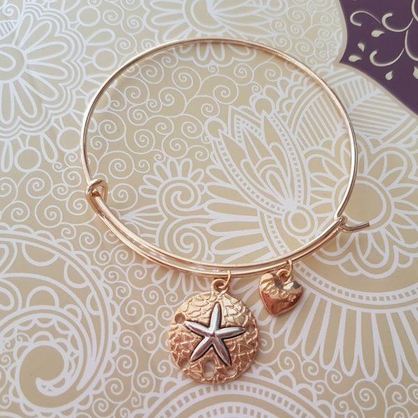 Starfish Bangle Gold Tone