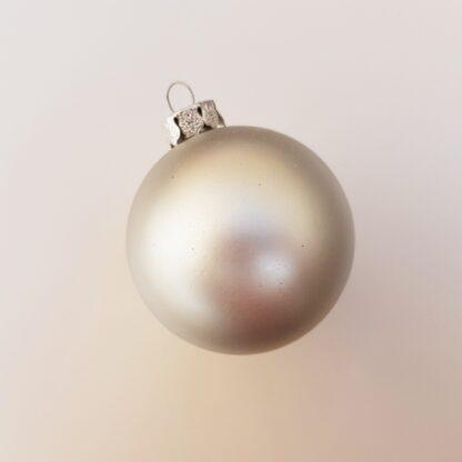 Christmas Bauble Colours Matte Silver