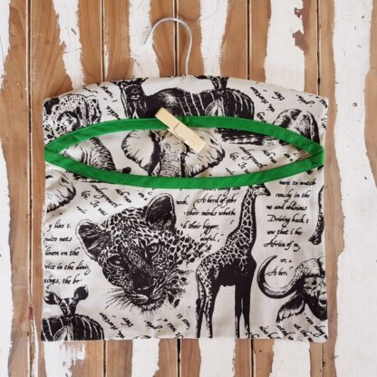 African Animal Print Peg Bag on Hanger