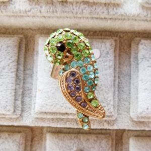 Adjustable Parrot Ring with Diamante